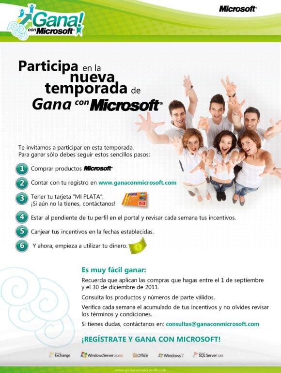 Gana con Microsoft. Programa de incentivos